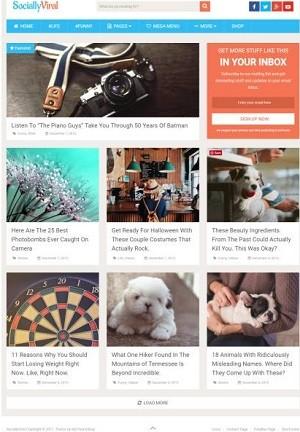 Revisión de SociallyViral: Tema para blog de MyThemeShop | Por Mundo ...